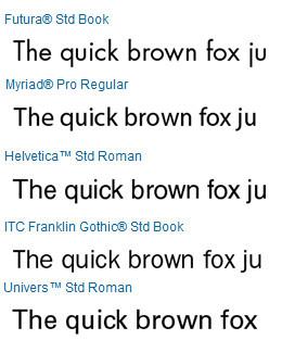 5 popular serif typefaces for books