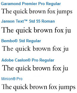 5 Serif Typefaces that can't fail