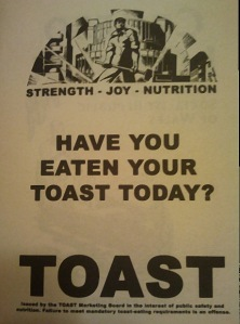 The Toast Marketing Board - Satirical Book Advertising